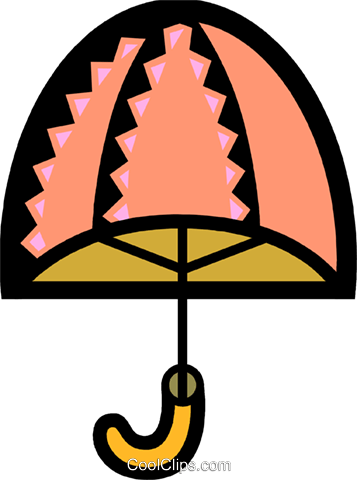 Umbrellas Royalty Free Vector Clip Art illustration vc077864
