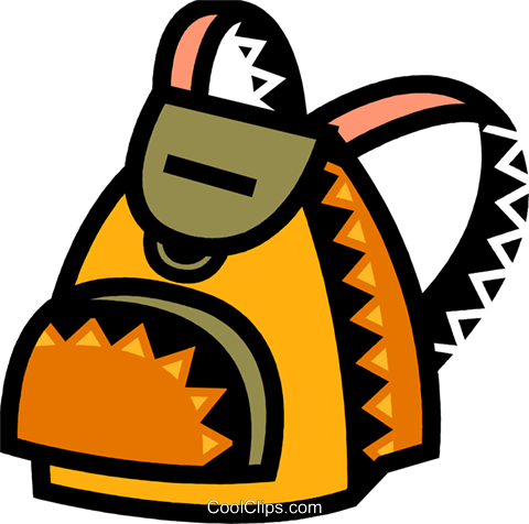 Schoolbags and Knapsacks Royalty Free Vector Clip Art illustration vc077872