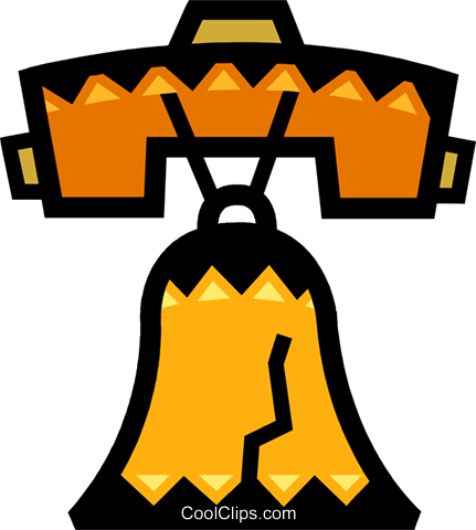 Liberty Bell Royalty Free Vector Clip Art illustration vc077876