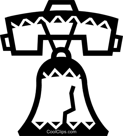 Liberty Bell Royalty Free Vector Clip Art illustration vc077877