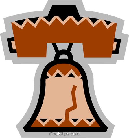 Liberty Bell Royalty Free Vector Clip Art illustration vc077879