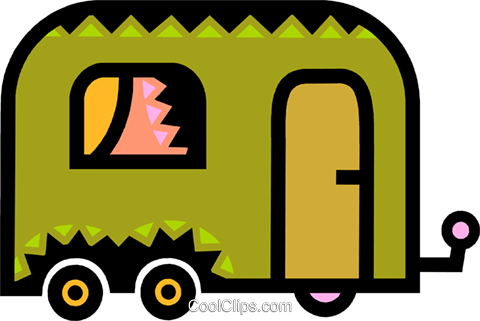 Camp Trailers Royalty Free Vector Clip Art illustration vc077884