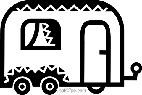 Camp Trailers Royalty Free Vector Clip Art illustration vc077885