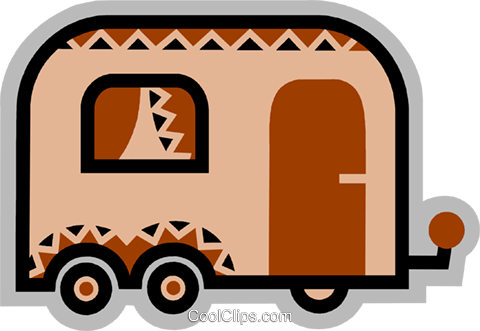 Camp Trailers Royalty Free Vector Clip Art illustration vc077887
