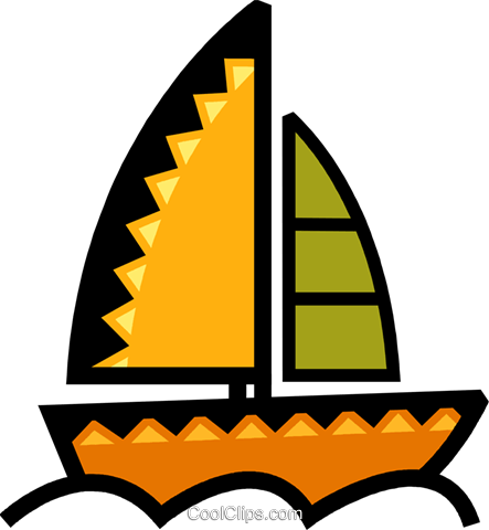 Sailboats Royalty Free Vector Clip Art illustration vc077892