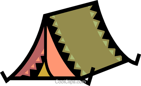 Tents Royalty Free Vector Clip Art illustration vc077904
