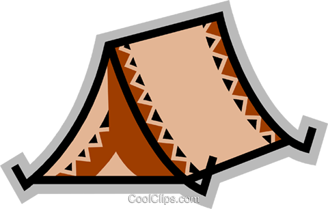 Tents Royalty Free Vector Clip Art illustration vc077907