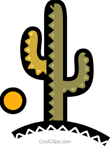 Cactus Royalty Free Vector Clip Art illustration vc077908
