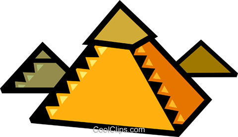 Pyramids Royalty Free Vector Clip Art illustration vc077912