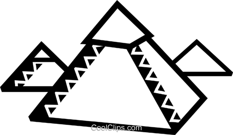 Pyramids Royalty Free Vector Clip Art illustration vc077913