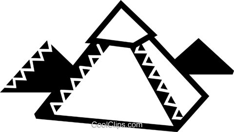 Pyramids Royalty Free Vector Clip Art illustration vc077914