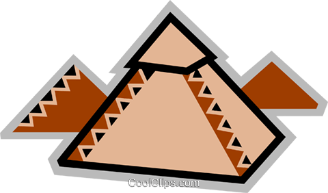 Pyramids Royalty Free Vector Clip Art illustration vc077915