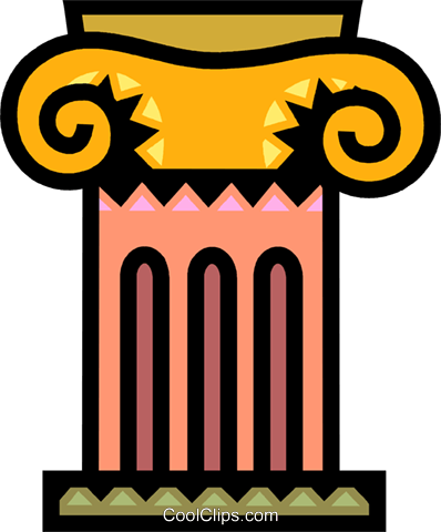 Column or Pedestal Royalty Free Vector Clip Art illustration vc077924