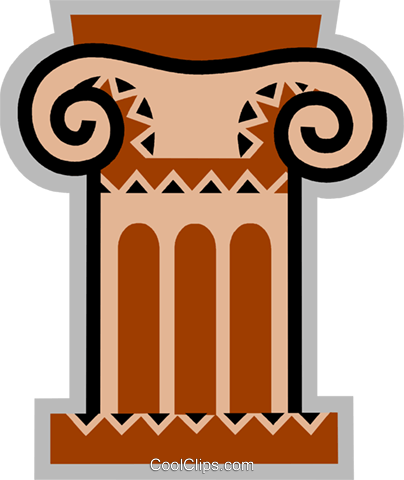 Column or Pedestal Royalty Free Vector Clip Art illustration vc077927