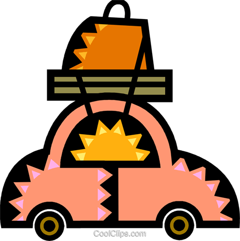 Family Cars Royalty Free Vector Clip Art illustration vc077932