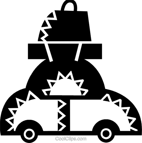 Family Cars Royalty Free Vector Clip Art illustration vc077934