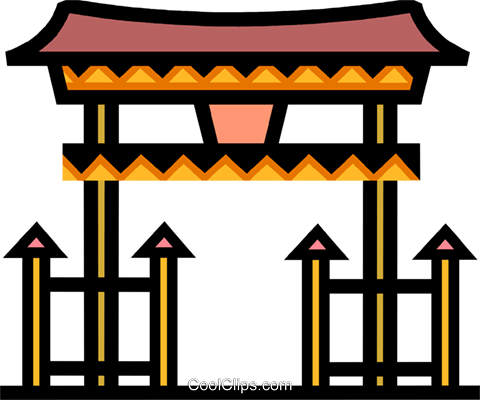 Temples Royalty Free Vector Clip Art illustration vc077936