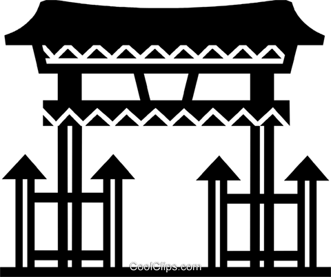 Temples Royalty Free Vector Clip Art illustration vc077938
