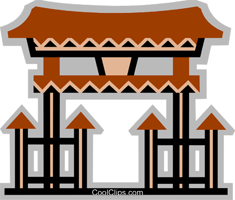 Temples Royalty Free Vector Clip Art illustration vc077939