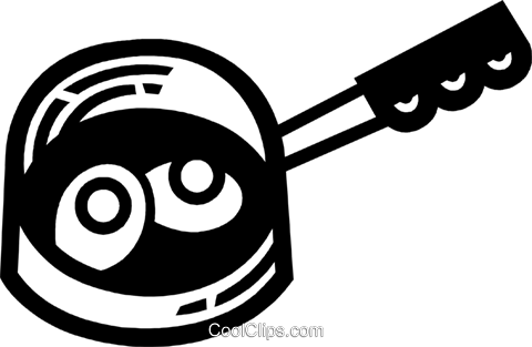 Frying Pans Royalty Free Vector Clip Art illustration vc077957