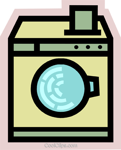Washing Machines Royalty Free Vector Clip Art illustration vc077964