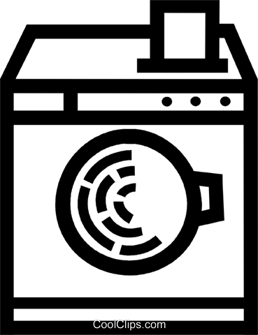 Washing Machines Royalty Free Vector Clip Art illustration vc077966