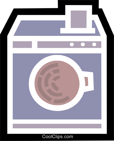 Washing Machines Royalty Free Vector Clip Art illustration vc077967