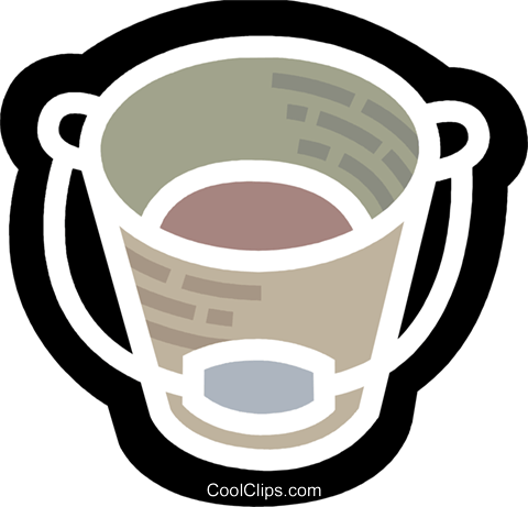 Buckets and Pails Royalty Free Vector Clip Art illustration vc077983