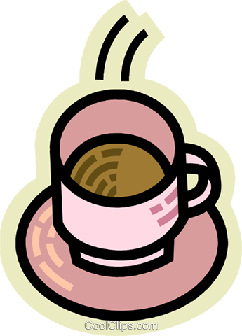 Cups of Coffee Royalty Free Vector Clip Art illustration vc078020