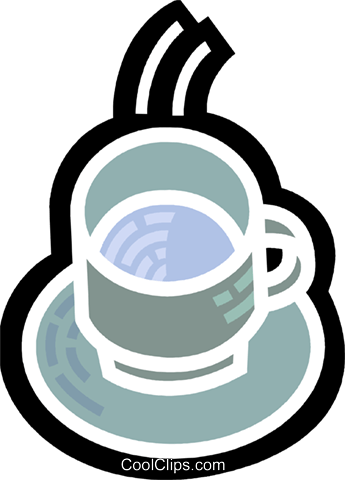 Cups of Coffee Royalty Free Vector Clip Art illustration vc078023