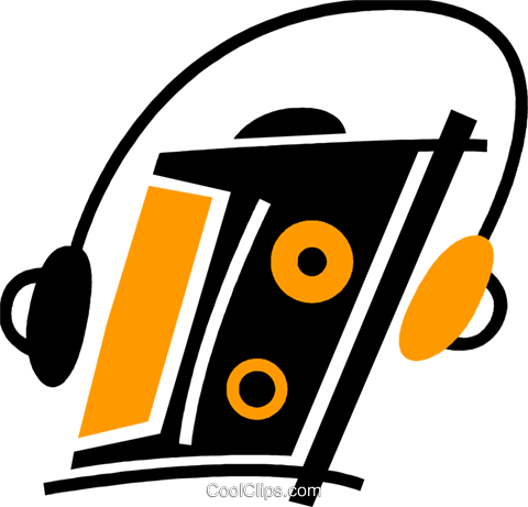 Portable Cassette Players Royalty Free Vector Clip Art illustration vc078040