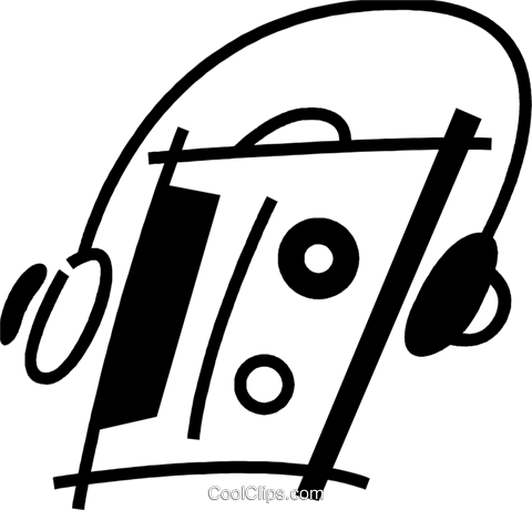 Portable Cassette Players Royalty Free Vector Clip Art illustration vc078041