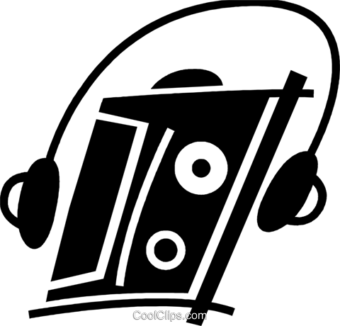 Portable Cassette Players Royalty Free Vector Clip Art illustration vc078042
