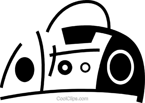 Portable Cassette Players Royalty Free Vector Clip Art illustration vc078049