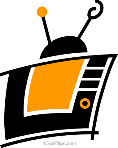Televisions Royalty Free Vector Clip Art illustration vc078052