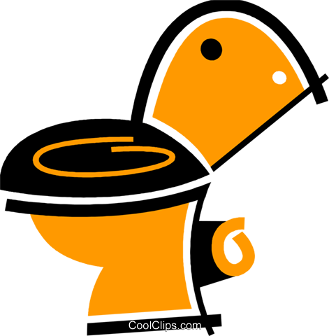 Toilets Royalty Free Vector Clip Art illustration vc078068