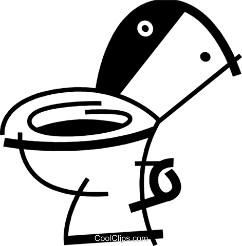 Toilets Royalty Free Vector Clip Art illustration vc078069