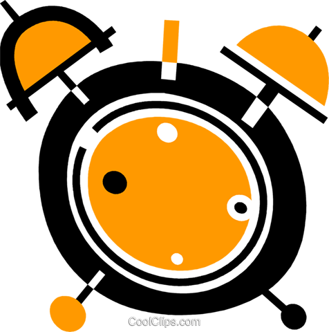 Alarm Clocks Royalty Free Vector Clip Art illustration vc078076