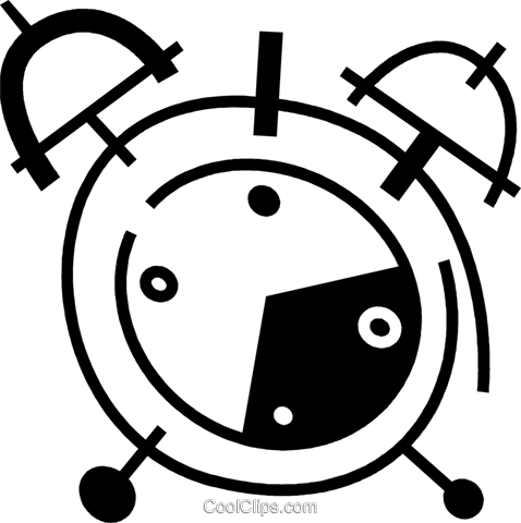 Alarm Clocks Royalty Free Vector Clip Art illustration vc078077
