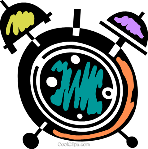 Alarm Clocks Royalty Free Vector Clip Art illustration vc078079