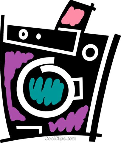 Washing Machines Royalty Free Vector Clip Art illustration vc078087
