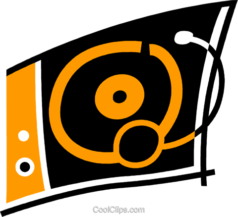 Contemporary Record Players Royalty Free Vector Clip Art illustration vc078104