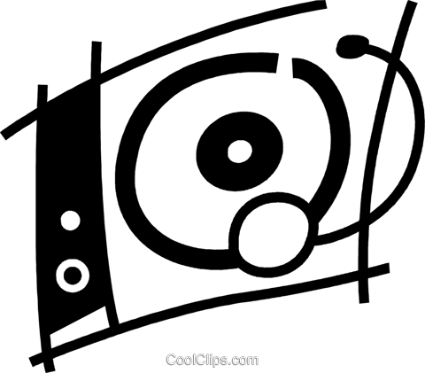 Contemporary Record Players Royalty Free Vector Clip Art illustration vc078105
