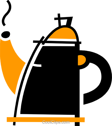Teapots Royalty Free Vector Clip Art illustration vc078108