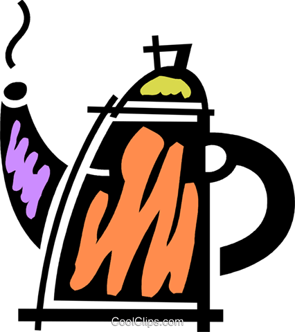 Teapots Royalty Free Vector Clip Art illustration vc078111