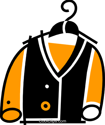 Coats and Jackets Royalty Free Vector Clip Art illustration vc078128
