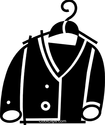 Coats and Jackets Royalty Free Vector Clip Art illustration vc078130