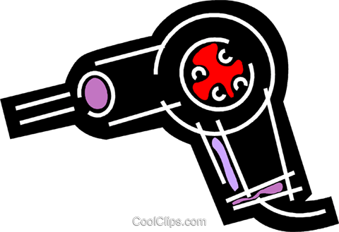 Hair Dryers or Blow Dryers Royalty Free Vector Clip Art illustration vc078154