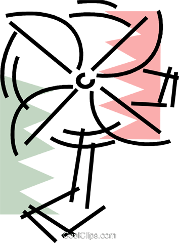 Electric Fan Royalty Free Vector Clip Art illustration vc078180