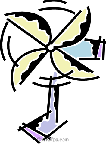 Electric Fan Royalty Free Vector Clip Art illustration vc078181
